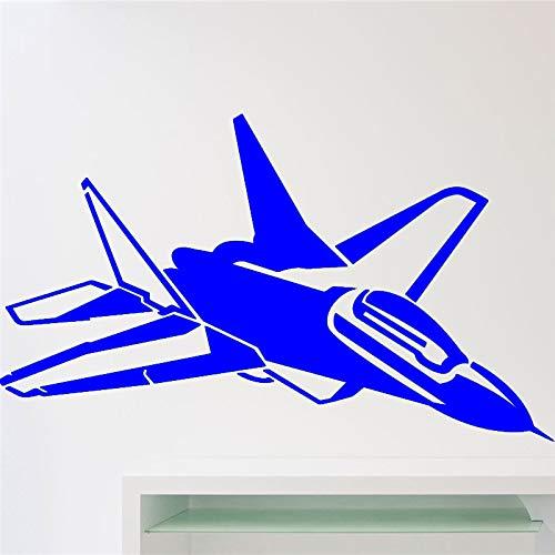 yaoxingfu Avión de Combate de Aviones de Combate Calcomanía de Pared Avión Bombardero Avión Militar Etiqueta de la Pared Decoración del hogar Habitación Interior Etiqueta de Vinilo WW-3 58 x 34 cm