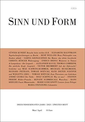 SINN UND FORM 2/2021 (Sinn und Form: Beiträge zur Literatur)