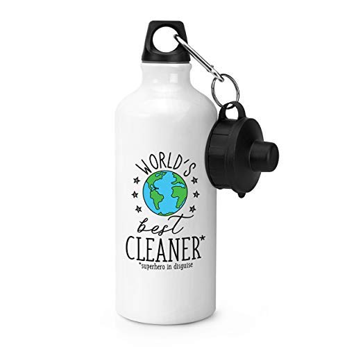 rfy9u7 20oz World's Best Cleaner Gym Funny Aluminum 600ML Sports Water Bottle for Outdoor Sports Hiking, Cycling, Camping, Running
