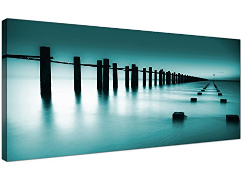 Wallfillers® 1089 Lienzo oficina con impresión fotográfica, paisaje contemporáneo, paisaje marítimo