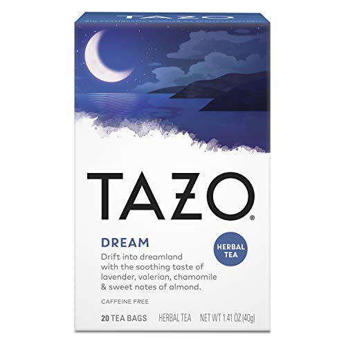 Tazo Herbal Tea Bags Soothing Hot Tea Dream Caffeine Free 1.41 oz 20 Tea Bags