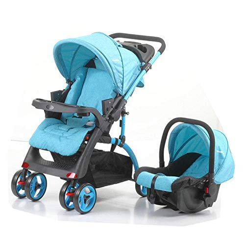 QTbabies Pushchair Travel System Shopper Baby Strollers & Buggies 2 in 1...
