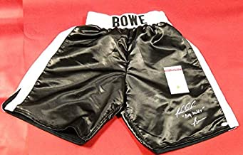 Riddick Bowe Autographed Signed Big Daddy Boxing Shorts Trunks JSA