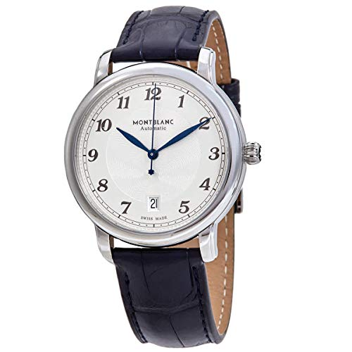 Montblanc Star Legacy - Reloj automático con fecha, 39 mm, correa azul