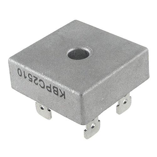 Lukuki 10pcs 50A 1000V Metal Case Single Phases Diode Bridge Rectifier KBPC5010 High