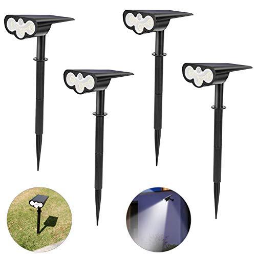 39 LEDs Solarstrahler Außen, WOWDSGN 2-in-1 Licht-Sensorik Gartenleuchte mit Bewegungsmelder, IP65 Wasserdicht Solarlampen für Außen, Garten, Eingangstür, Bäume, Sträucher, 6500K Kaltweiß