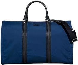 HOOK & ALBERT No Pocket Garment Weekender Bag, Ballistic Fabric, Navy and Black
