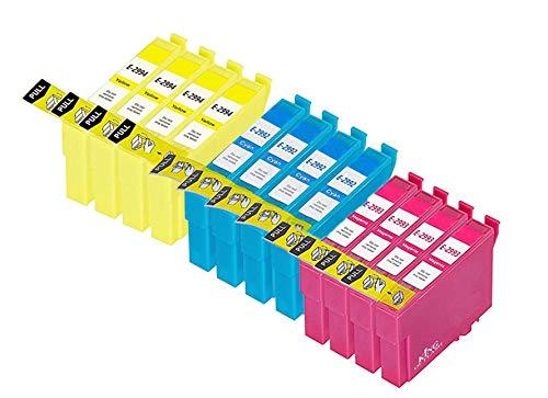 KING OF FLASH Cartuchos de tinta compatibles 29XL para Epson Expression Home XP-235, XP-245, XP-332, XP-335, XP-342, XP-432, XP-435, XP-442, XP-445, XP-247, XP-345 (4 cian 4 magenta 4 amarillo)