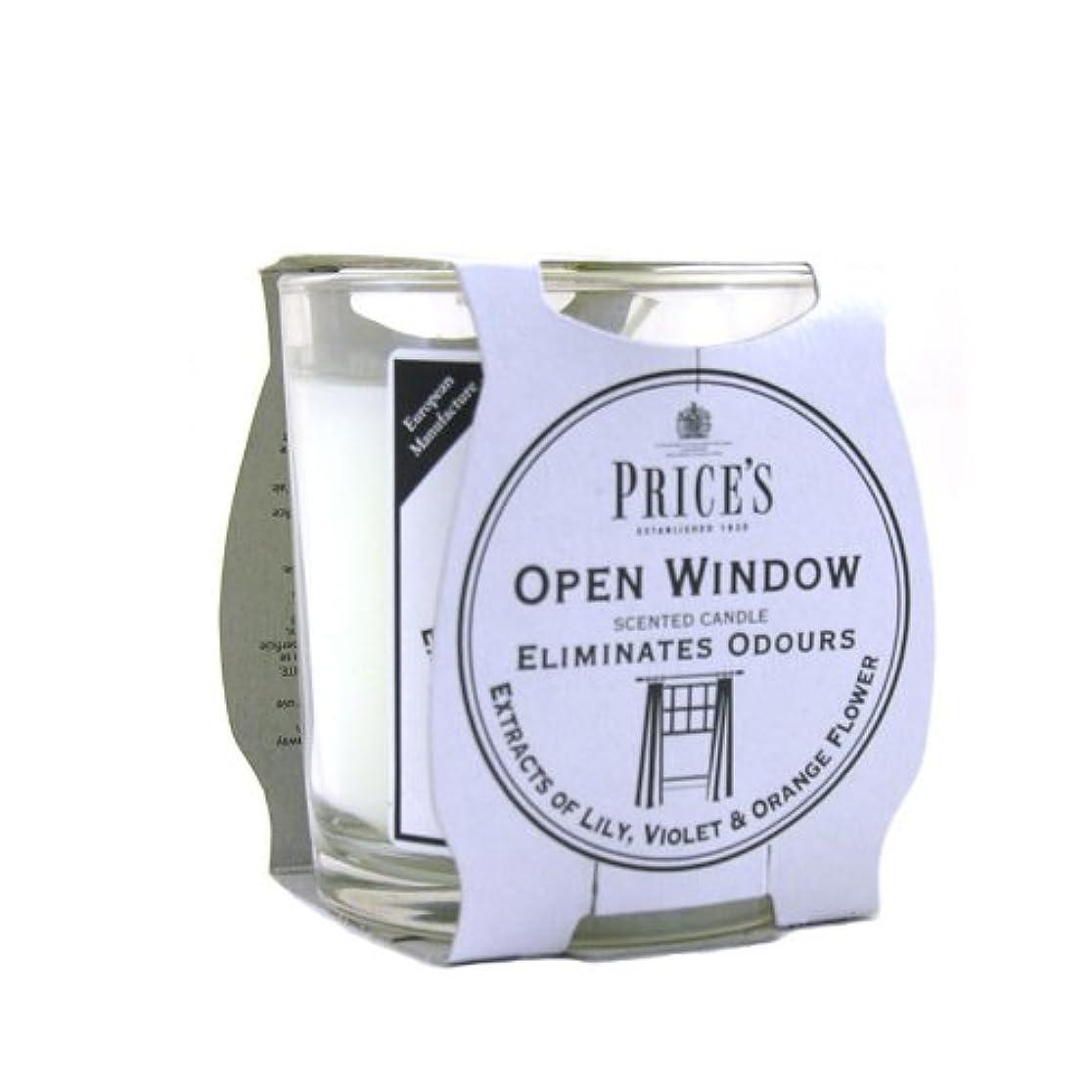 骨髄代理人翻訳Price′s(プライシズ) Fresh Air CANDLE TIN Jar type (フレッシュエアー キャンドル ジャータイプ) OPEN WINDOW(オープンウィンドゥ)