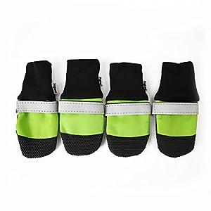 eleery 4Bottes en caoutchouc pour chien chiot patte antidérapant Protection d'écran Sport Chaussures