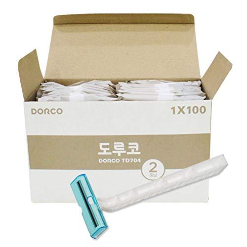 Cuchillas de afeitar desechables de acero inoxidable – afeitadoras empaquetadas individualmente en lote 100 EA