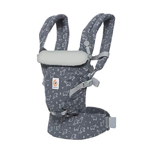 Ergobaby Babytrage für Neugeborene ab Geburt, Adapt 3-Positionen Babybauchtrage Rückentrage, Pink Digi Camo Cool Air Mesh