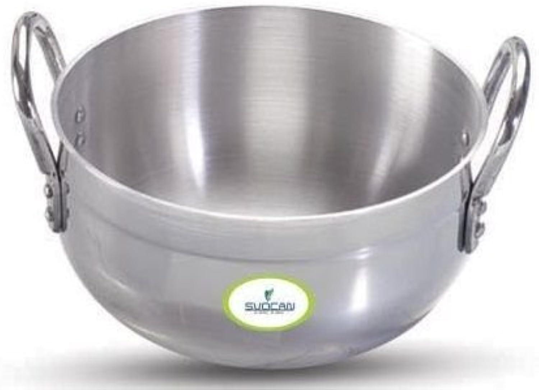 Svocan Handicrafts Aluminum 9  Dia Karhai Pot Cookware Pot Kitchen Utensil Cooking Pot