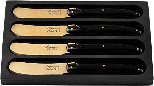 Laguiole Style de Vie Buttermesser Prestige Line, 4-teilig, Golden