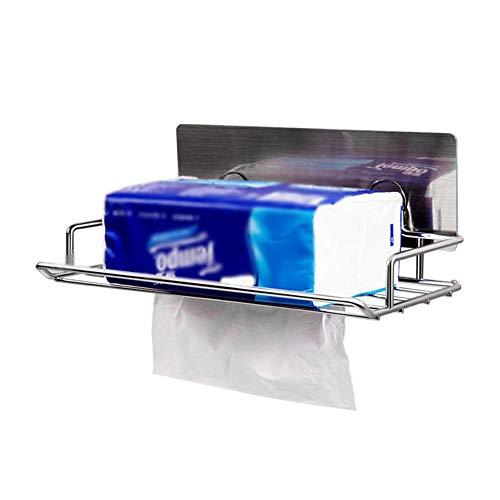 PILIBEIBEI Papierhalter, Edelstahl-Papierhandtuchhalter Saugnapfschale WC-frei lochen Wandbehang Papierhandtuch Toilettenpapierhalter, Küchentoilette oder Arbeitsplatte