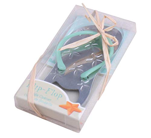 Pop the Top Flip-Flop Starfish Bottle Opener For Wedding Party Favor Gift (40, Blue)