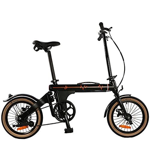 ZJWD Mini Bicicleta Plegable de 16 Pulgadas, Bicicleta de montaña, para desplazamientos en Metro Bicicleta portátil para niños, niños y Adultos,C