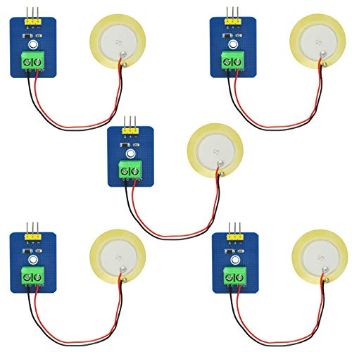 Gikfun Analog Ceramic Piezo Vibration Sensor Module for Arduino DIY Kit (Case Pack of 5pcs) EK1952