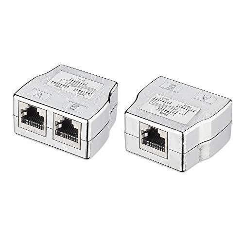 kwmobile 2X Divisor de Cable de Red - Distribuidor Doble de conexión...