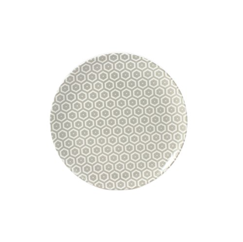 Cartaffini – Plato de fruta Miel, color crudo – de melamina con decoración de tejido auténtico (Bees) Ø 21 cm