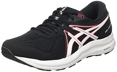 Asics Gel-Contend 7, Zapatillas para Correr Hombre, Black/Electric Red, 46 EU