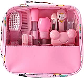 Hothuimin Deluxe 14-Piece Baby Healthcare and Grooming Kit, Complete Nursery Care Kit - Pink