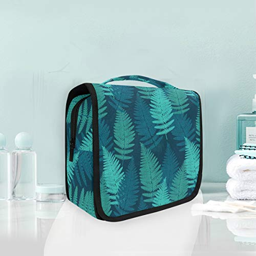Mr.XZY Toiletry Bag Tropical Green Plant Painting Multifunction Cosmetic Bag Modern Nordic Fresh Style Creative Design Portable Makeup Pouch Travel Hanging Organizer Bag for Women Girls 2011055