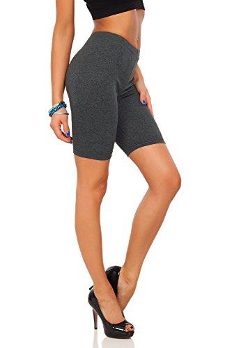 SOFTSAIL - Mallas elásticas de algodón de 1/2 longitud por encima de la rodilla, cómodas y transpirables, para deporte, gimnasio, ciclismo
