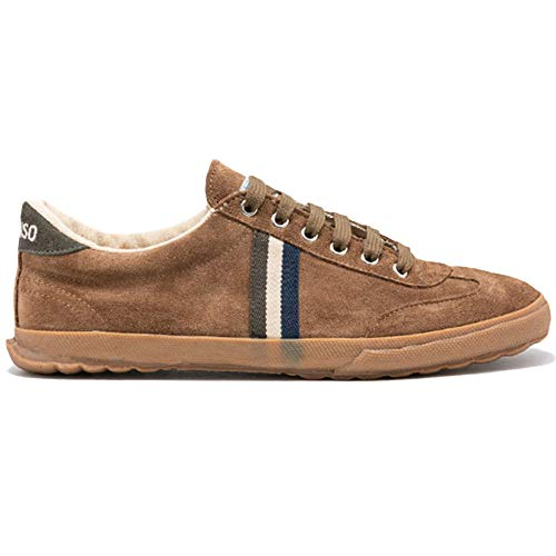 El Ganso Zapatillas Deportivas para Hombre. Match, Berliner y Low-Top. Sneaker Walking Unisex ((Match) Brown Suede, Numeric_42)