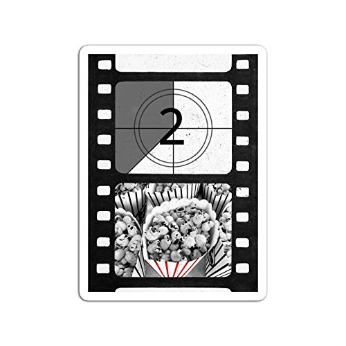BreathNenStore Sticker Television Show The Movie Experience Popcorn Time Tv Shows Series (3' x 4', 3 PCS/Pack)