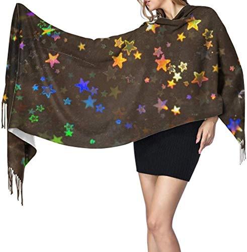 Inpakpapier zilver kleurrijke mousserende verpakt sjaal lange sjaals kasjmier sjaals kasjmier voor vrouwen 77