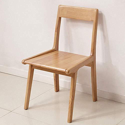 ZJN-JN Silla Sillas contador de cocina minimalista Silla de madera americano silla del ocio Café Negociación silla de comedor Silla adecuada del dormitorio del hogar cenar (Color: Beige, Tamaño: 43x50