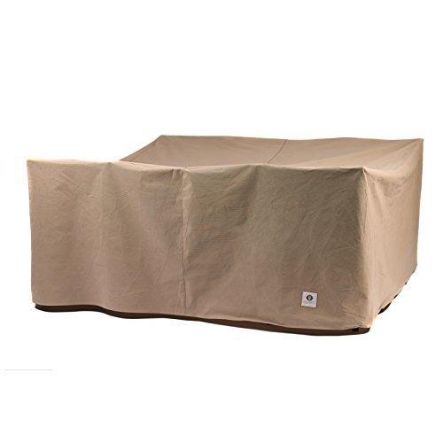 Duck Covers - Mesa de patio cuadrada esencial con funda para sillas, 76 cm por grupo de almacenamiento flexible