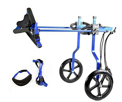 Silla de Ruedas para Perros,Ciclomotor Scooter para Mascota,Adecuado para Perro Discapacitado Paralizada Patas Traseras Rehabilitación Del Caminar Asistido,Ajustable,2 Ruedas,1.5kg(3.3lb)-60(1