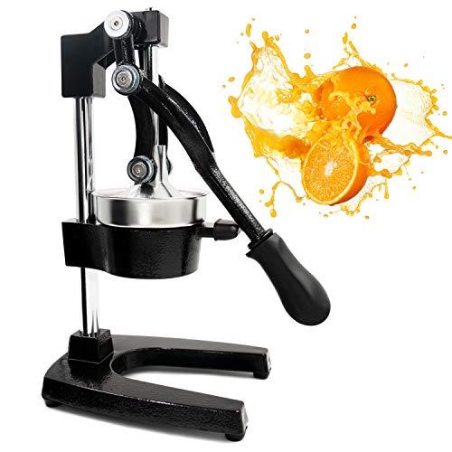 Egofine Commercial Grade Citrus Juicer Hand Press Manual Fruit Juicer Juice Squeezer Citrus Orange Lemon Pomegranate, Black
