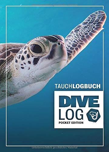Tauchlogbuch I Dive Log Pocket Edition: Kleines Logbuch als Geschenk für Taucher & Scuba Diver zum dokumentieren von 80 Tauchgängen I Inhaltsverzeichnis I Format: DIN A6 I 84 Seiten I Schildkröte