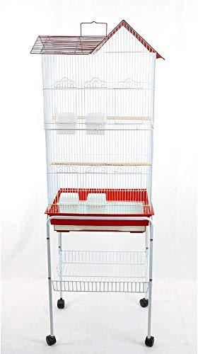 Pet's Solution Gabbia per Uccelli calopsite parrocchetti canarini cocorite con Carrello