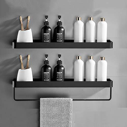 XIBALI Hängendes Regal Wandregal Wandboard Deko Schwarz Metalldraht Gestelle Metall Toilette Starke Verklebung Kein Stanzen Creative Geeignet für Wohnzimmer Schlafzimmer Badezimmer Küche