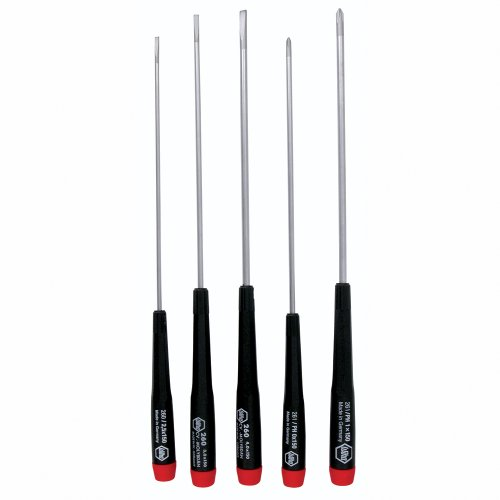 Wiha 26192 Slotted and Phillips Screwdriver Set, 5 Piece