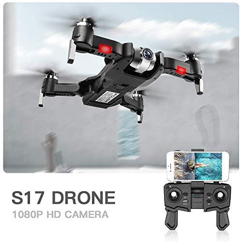 S17 Aviones no tripulados con la cámara 1080P Drone trayectoria de Vuelo de Control de Palm MV Producción Optical Flow Posicionamiento Gesto Foto Video Follow Me 2 baterías Bolsa portátil plm46