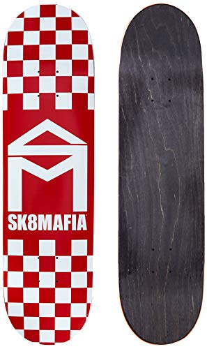 Sk8mafia House Logo Checker Red 8.25'x32' Deck Skateboard, Adulti Unisex, Multicolore (Multicolore)