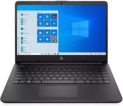 """2021 HP 14"""" HD 1366x768 Lightweight Laptop PC, Intel Core i3-1005G1 Processor, 4GB RAM, 128GB SSD, HDMI, Webcam, Wi-Fi, Bluetooth, Windows 10 S, Jet Black, W/ IFT Accessories"""