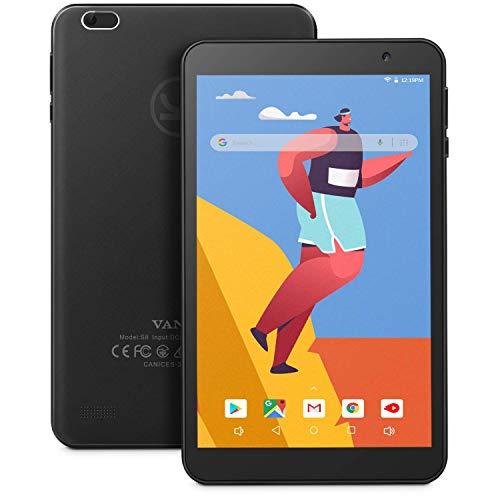 Vankyo MatrixPad S8 8 inch Android Tablet, Android 9.0 Pie, 1280x800 IPS Display, 2GB RAM 32GB ROM, 5MP Rear Camera, IPS HD Display, Wi-Fi, BT 4.2, GPS, FM, GMS-Certified, Black