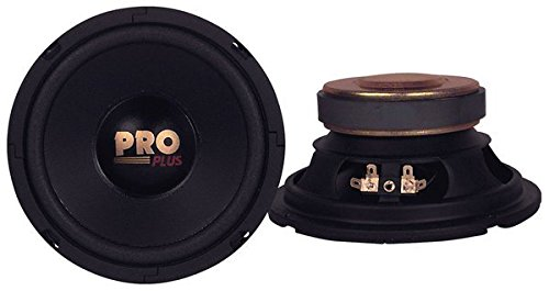 """Car Mid Bass Speaker System - Pro 6.5 Inch 200 Watt 4 Ohm Vehicle Mid-Bass Component Poly Woofer Audio Sound Speakers w/ 30 Oz Magnet Structure, 2.5"""" Mount Depth Fits OEM - Pyramid W64"""