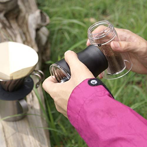 HARIO(ハリオ)コーヒーミル透明ブラック手挽きセラミックスリムMSS-1TB