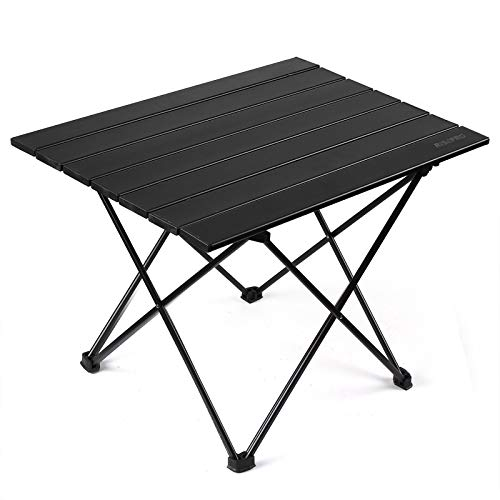 Photo of RISEPRO Portable Camping Table, Lightweight Folding Table with Aluminum Table Top and Carry Bag, Easy to Carry, Ideal for Outdoor, Camping, Picnic, Cooking, Beach, Hiking, Fishing 57 X 40 X 40cm