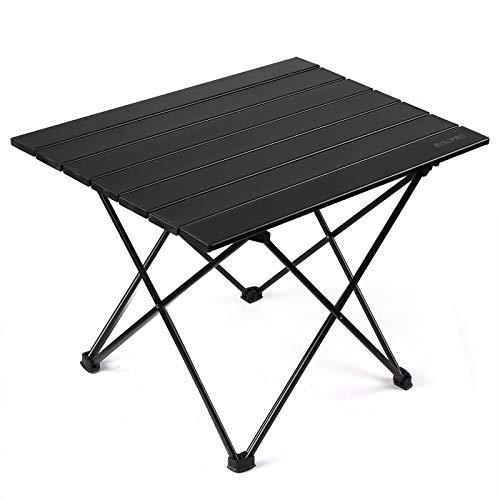 RISEPRO tragbarer Camping-Tisch mit Aluminium-Tischplatte, groß 57 x 40 x 40 cm, Ultra Leichte mit Tasche, Leicht zu tragen, klappbar Tisch Präfekt für Camping Picknick Kochen Garten Wandern Reisen
