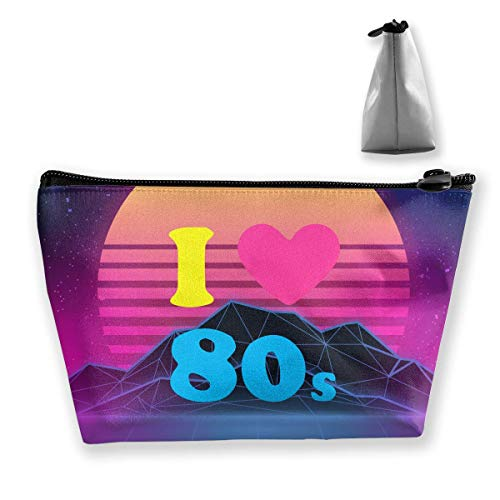 Ilove The 80's Portable Travel Makeup Bags Storage Bag Organizers With Zipper