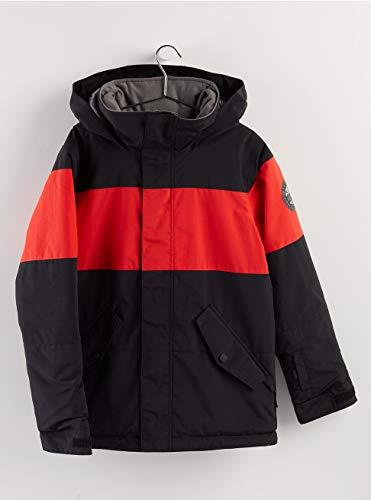 Burton Symbol Giacca Da Snowboard, Bambino, True Black/Flame Scarlet, XL