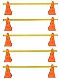Boje Sport Set de 5 obstáculos para el Entrenamiento de la coordinación, Amarillo-Naranja 10xMZK23o 5x100y